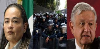 ¿Uso de la fuerza a conveniencia de AMLO? El uso de la fuerza pública a conveniencia por el presidente AMLO fue denunciada por la fracción del PRD