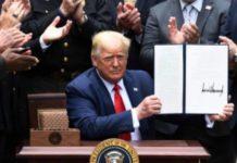 Donald Trump firma orden ejecutiva para reforma policial