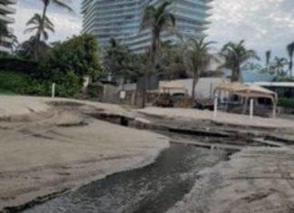 ¡Otra vez! Alcaldesa niega descarga de aguas negras en playas de Acapulco