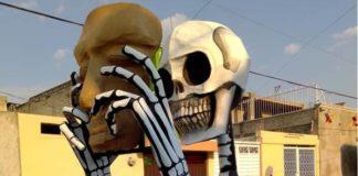 Las calaveras monumentales de Tláhuac regresan