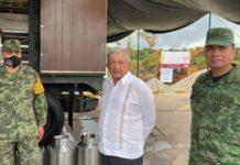 AMLO visita una cocina comunitaria en Macuspana, Tabasco