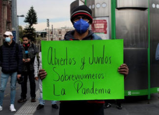 protesta restaurantes pandemia CDMX