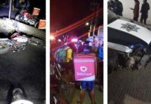 Policías arrollan repartidores DiDi