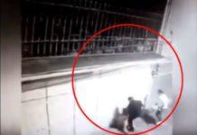 Captan a sujeto golpeando brutalmente a una mujer en Edomex