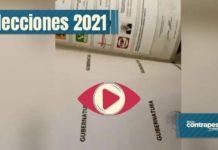 Boletas electorales marcadas en favor de Morena en Michoacán