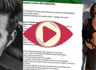 """guion que utilizaron influencers para """"apoyar"""" al PVEM"""