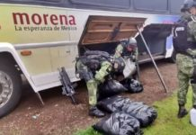 Sedena Fake news,Sedena sí borró logo de Morena a camión con droga