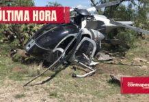 helicóptero de la fuerza aérea en Santa Lucía