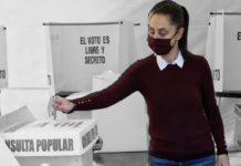 Sheinbaum vota consulta popular