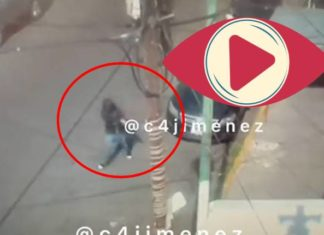 Momento exacto en el que ultiman a vendedor de tenis en la Morelos