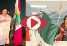 Clara Brugada e Isabel Arvide agregaron a AMLO y a Sheinbaum a sus Gritos de Independencia (Video)