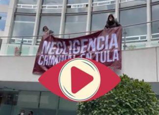 Legisladoras del PAN cuelgan manta en el Senado para exigir acciones en hospital de Tula (Video)