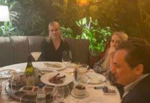 Fotos de Lozoya cenando