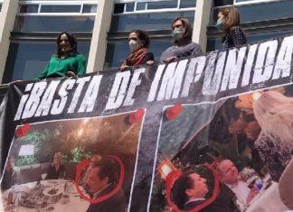Panistas colocan manta de Lozoya en el Senado
