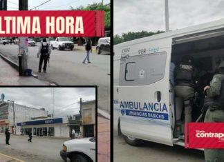 Reportan toma de rehenes en banco de Veracruz (Fotos)