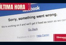 Facebook se cayó de nuevo